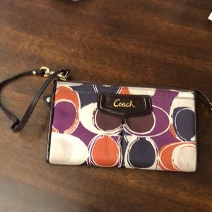 Coach Wallet Wristlet Zipper Top